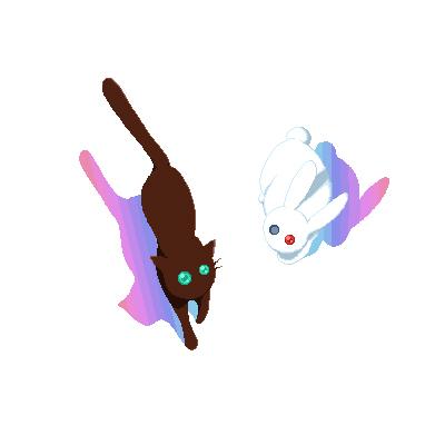 碧眼の黒猫と隻眼の白兎